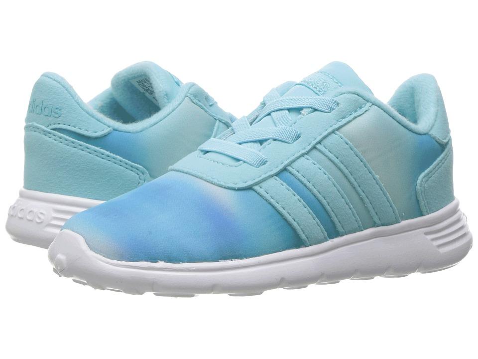 adidas Kids - Lite Racer (Infant/Toddler) (Clear Aqua/Clear Aqua/White) Girls Shoes