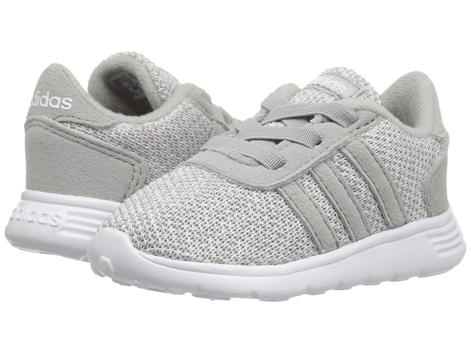 adidas Kids - Lite Racer (Infant/Toddler) (Clear Onix/Clear Onix/White) Girls Shoes