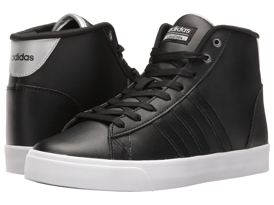 adidas - Cloudfoam Daily QT Mid (Black/Silver Metallic) Women's Basketball Shoes