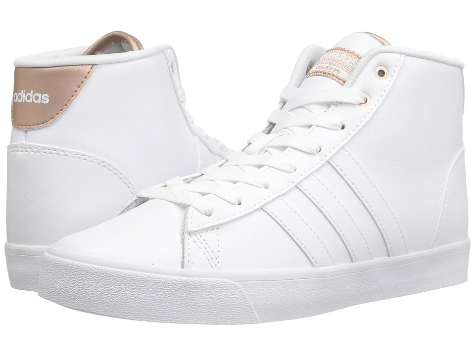 adidas - Cloudfoam Daily QT Mid (White/Copper) Women's Basketball Shoes