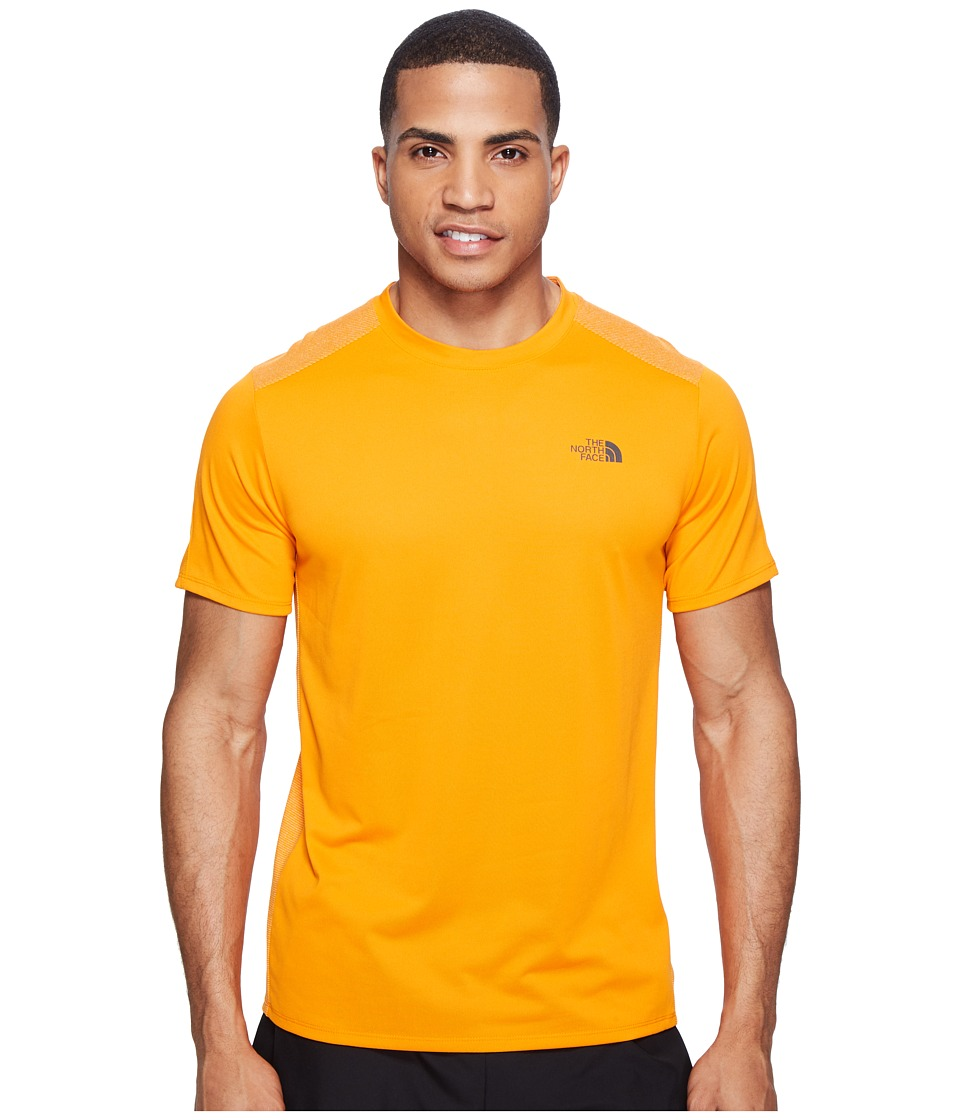 The North Face Versitas Short Sleeve Crew (Exuberance Orange (Prior Season)) Men