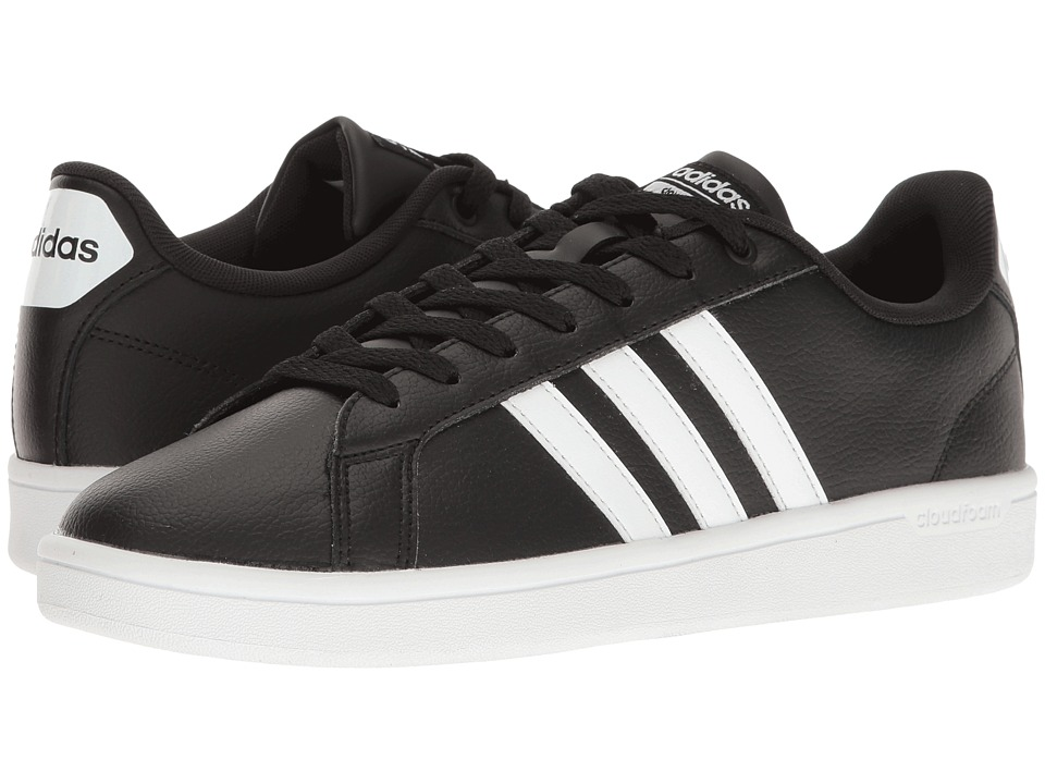 adidas - Cloudfoam Advantage Stripe (Black/White) Women's Court Shoes
