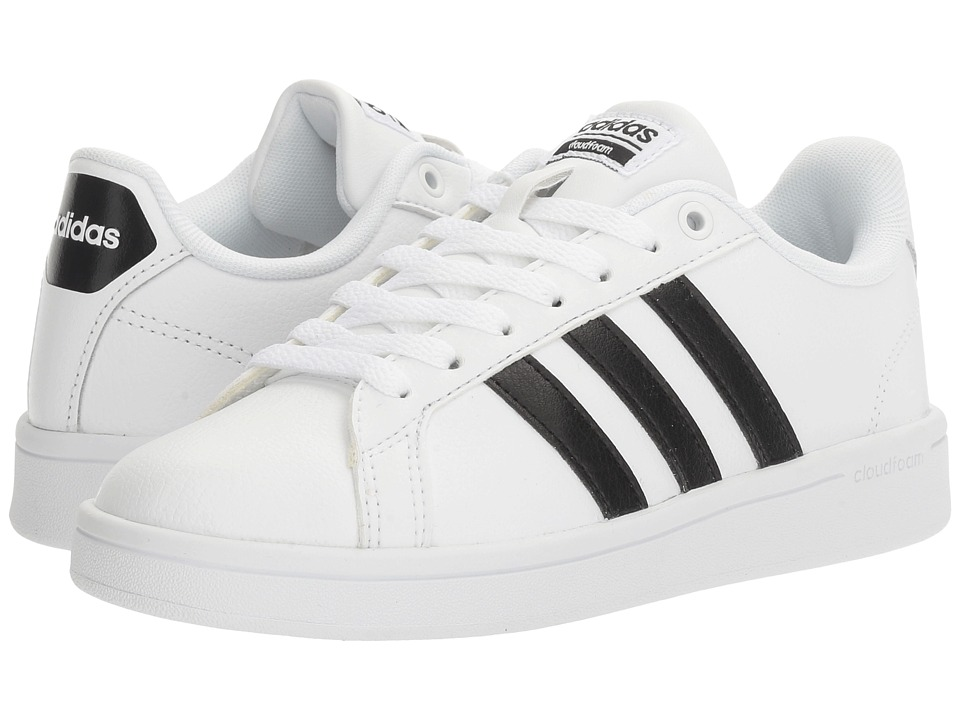 adidas - Cloudfoam Advantage Stripe (White/Black) Women's Court Shoes
