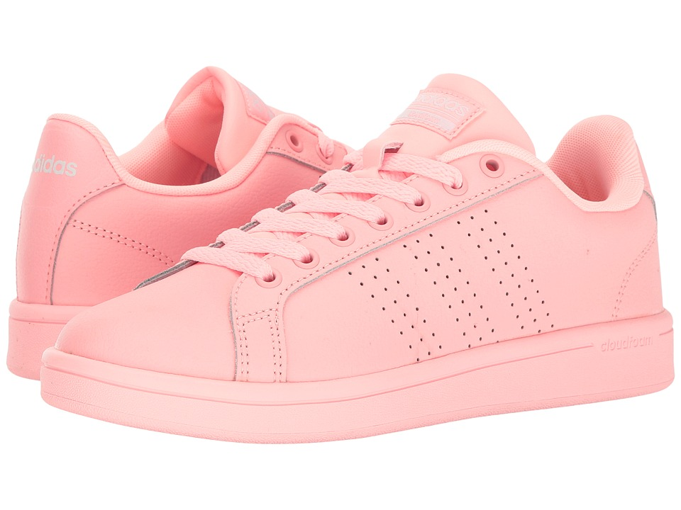 adidas - Cloudfoam Advantage Clean (Haze Coral/White) Women's Court Shoes
