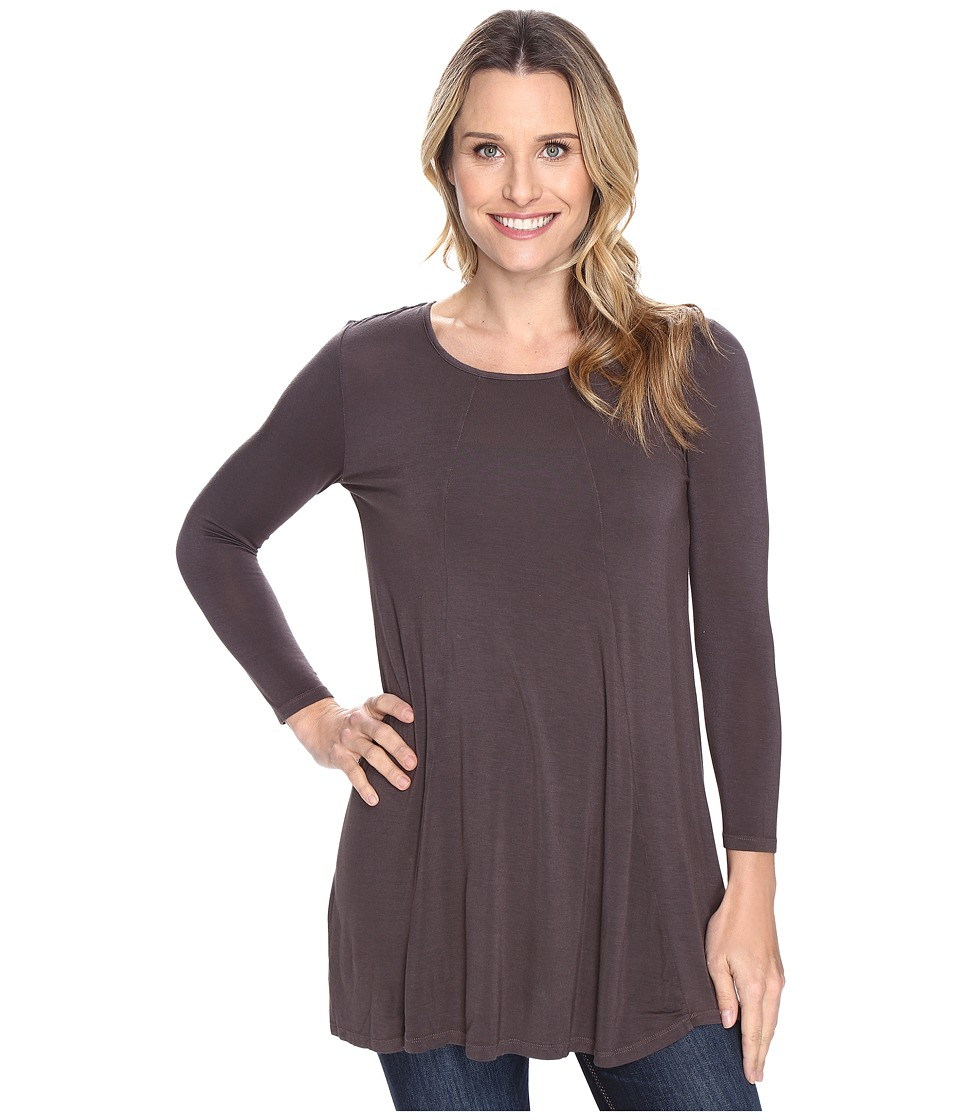 Mod-o-doc - Rayon Spandex Jersey Keyhole Back Tunic (Dark Nickel) Women's Clothing