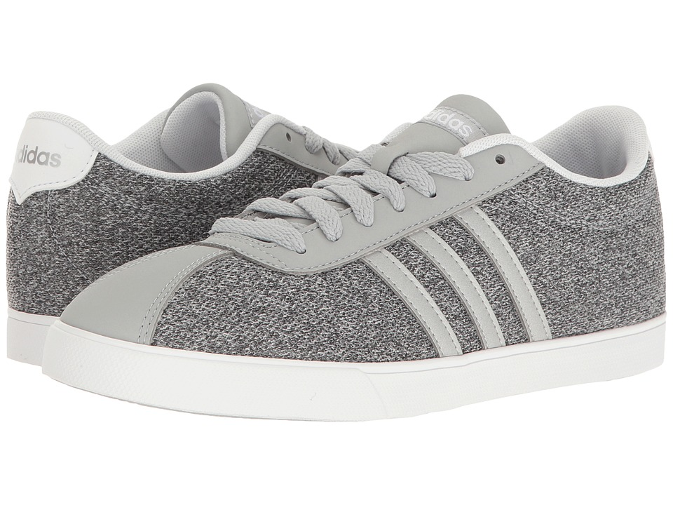adidas - Courtset (Clear Onix/Silver/White) Women's Lace up casual Shoes