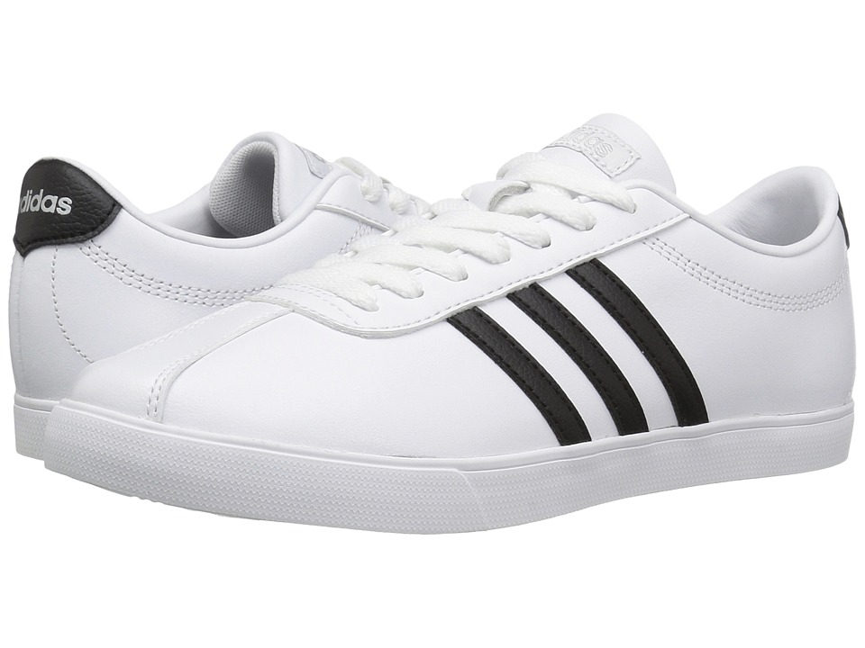adidas - Courtset (White/Black/Silver) Women's Lace up casual Shoes