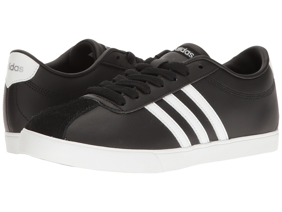 adidas - Courtset (Black/Footwear White/Silver) Women's Lace up casual Shoes