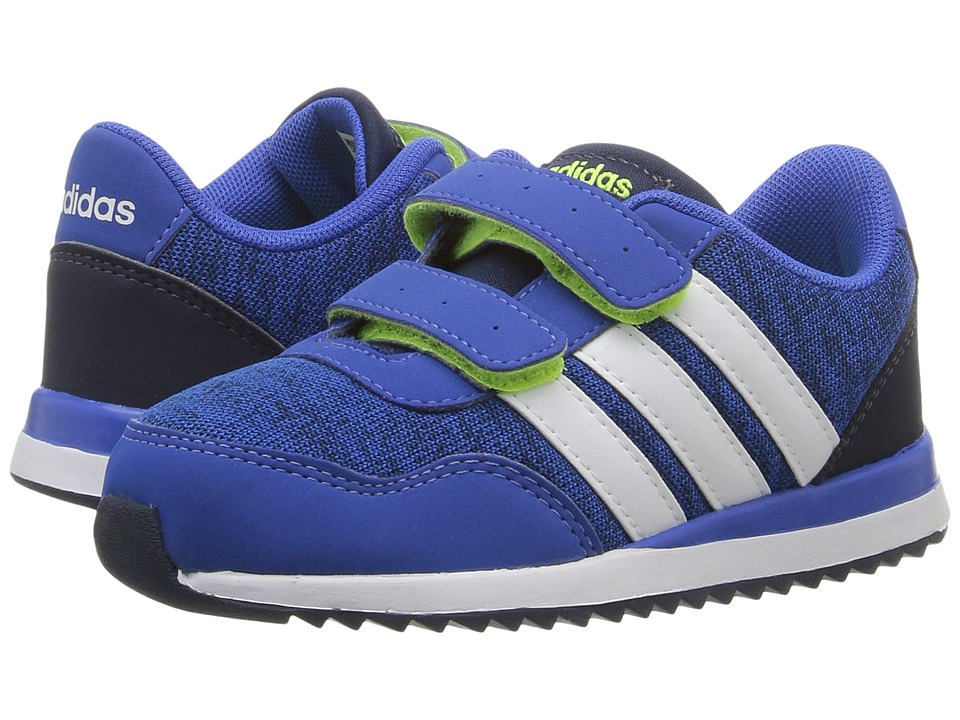 adidas Kids - V Jog CMF (Infant/Toddler) (Blue/White/Navy) Boys Shoes