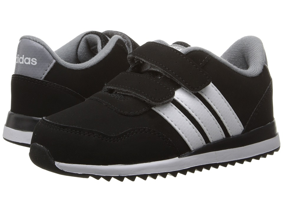 adidas Kids - V Jog CMF (Infant/Toddler) (Black/White/Grey) Boys Shoes