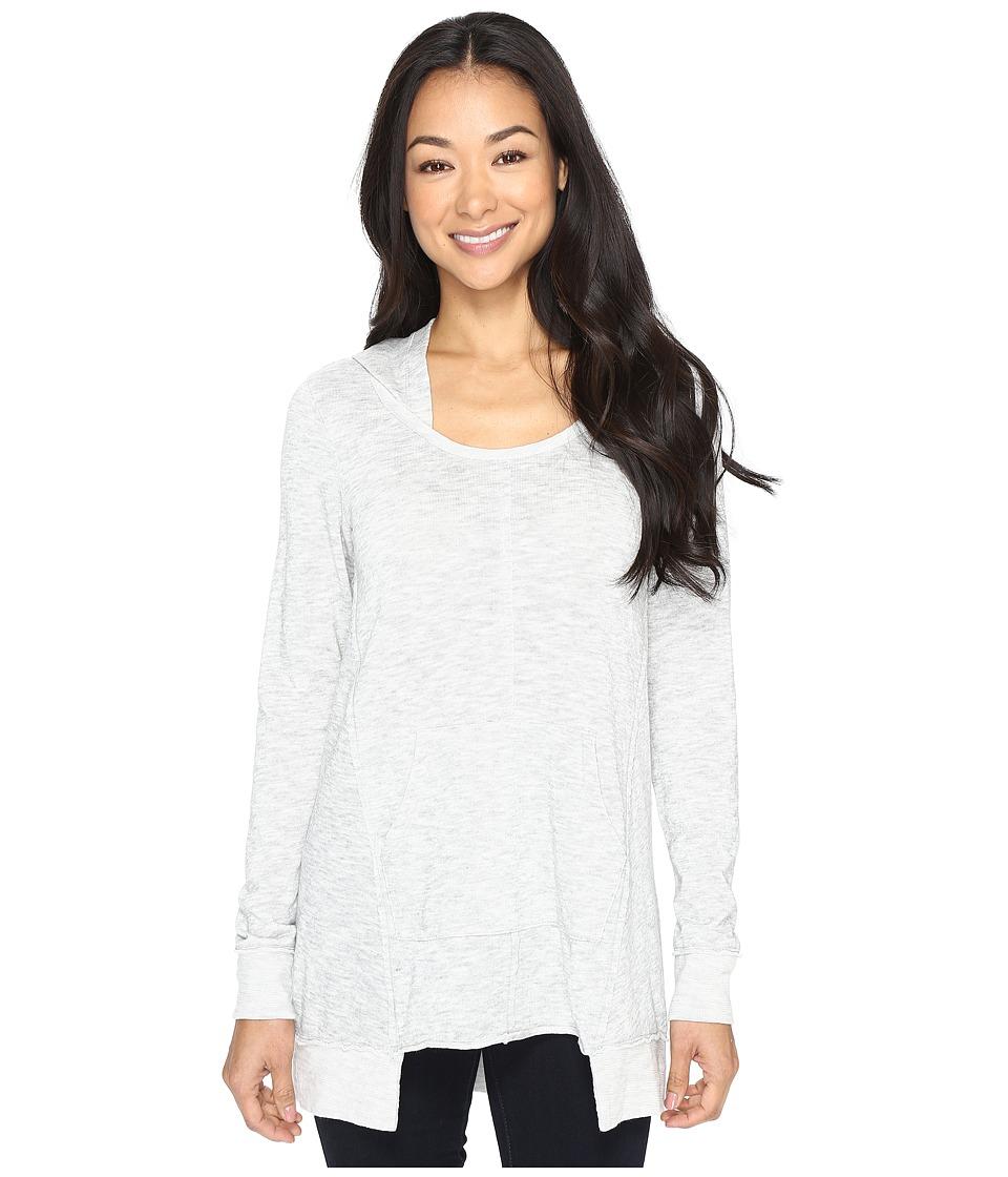Mod-o-doc - Heather Slub Jersey Pullover Hoodie (Light Grey) Women's Sweatshirt
