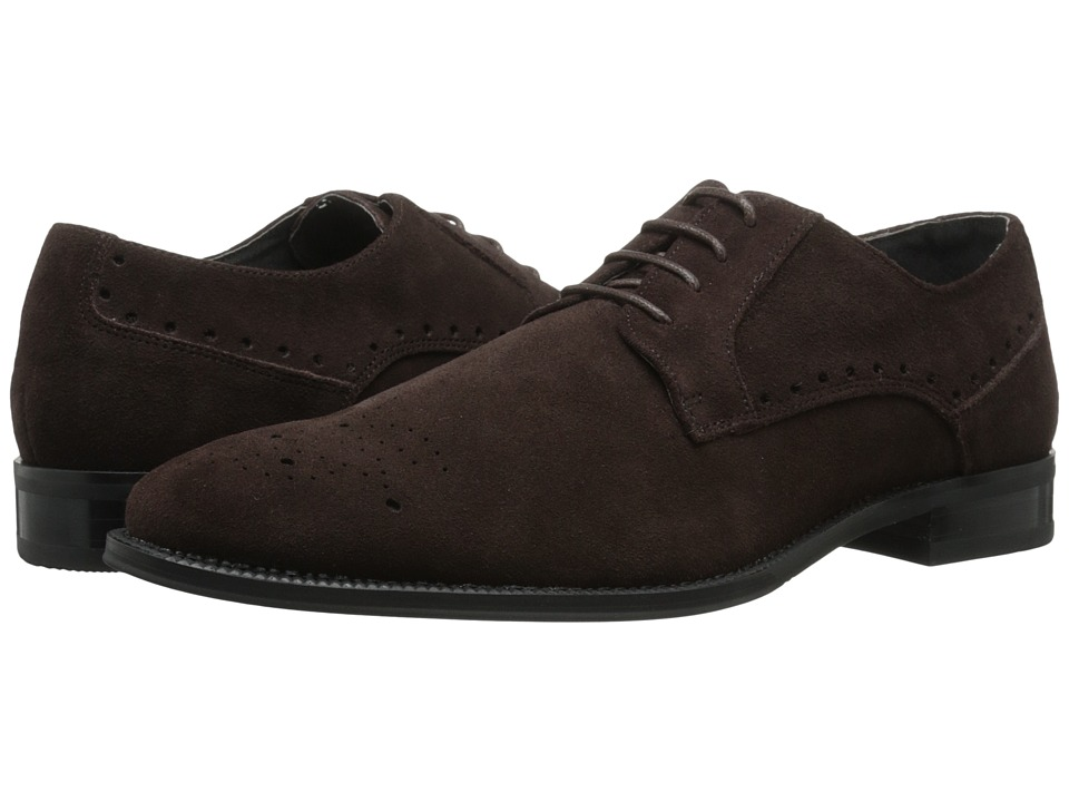 Stacy Adams - Kensington (Brown Suede) Men's Plain Toe Shoes