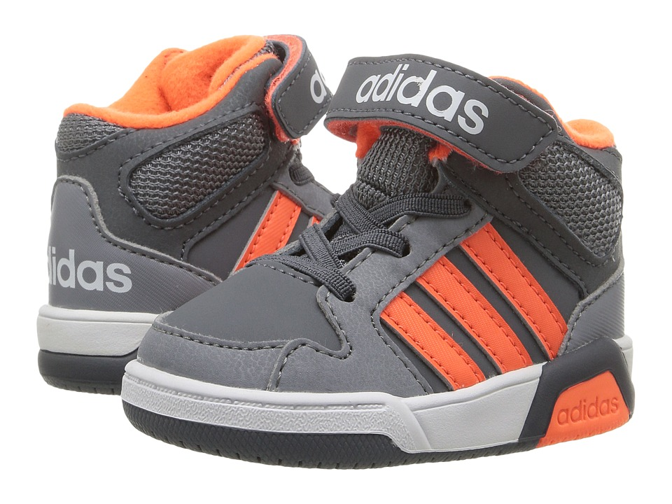 adidas Kids - BB9TIS (Infant/Toddler) (Onix/Solar Orange/Grey) Boys Shoes