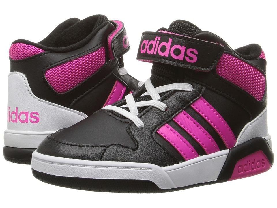 adidas Kids - BB9TIS (Infant/Toddler) (Black/Shock Pink) Girls Shoes