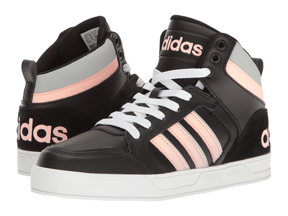 adidas Kids - Cloudfoam Raleigh 9TIS (Little Kid/Big Kid) (Black/Haze Coral/Clear Onix) Girls Shoes