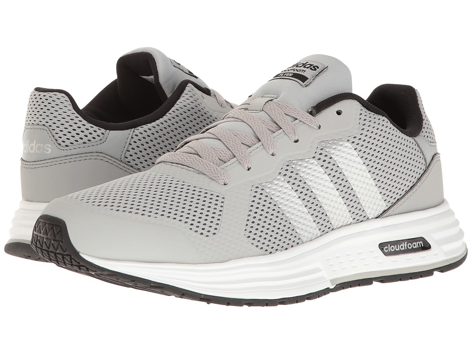 adidas - Cloudfoam Flyer (Clear Onix/Silver/Black) Men's Shoes