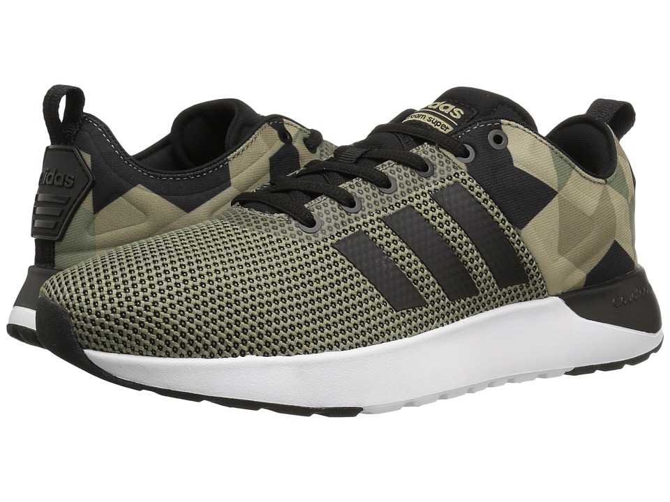 adidas - Cloudfoam Super Racer (Trace Green/Black/Cargo Khaki) Men's Running Shoes