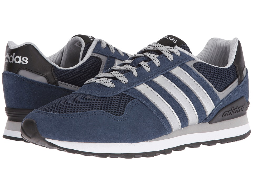 adidas - 10K (Navy/Silver/Clear Onix) Men's Running Shoes