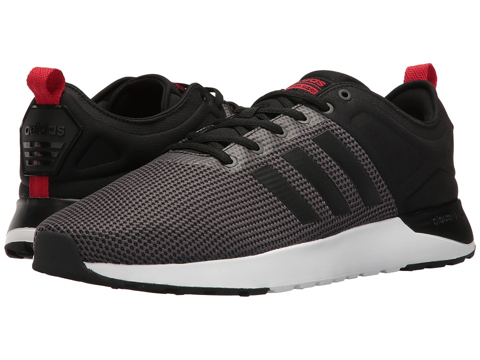 adidas - Cloudfoam Super Racer (Solid Grey/Black/Scarlet) Men's Running Shoes