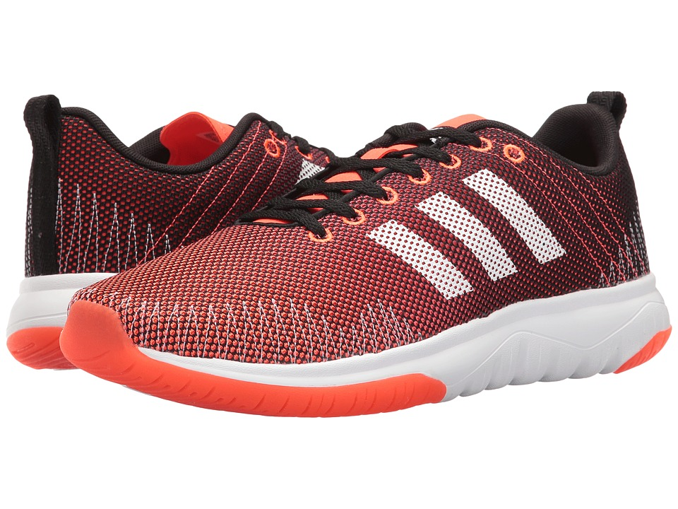 adidas - Cloudfoam Super Flex (Black/White/Solar Red) Men's Running Shoes