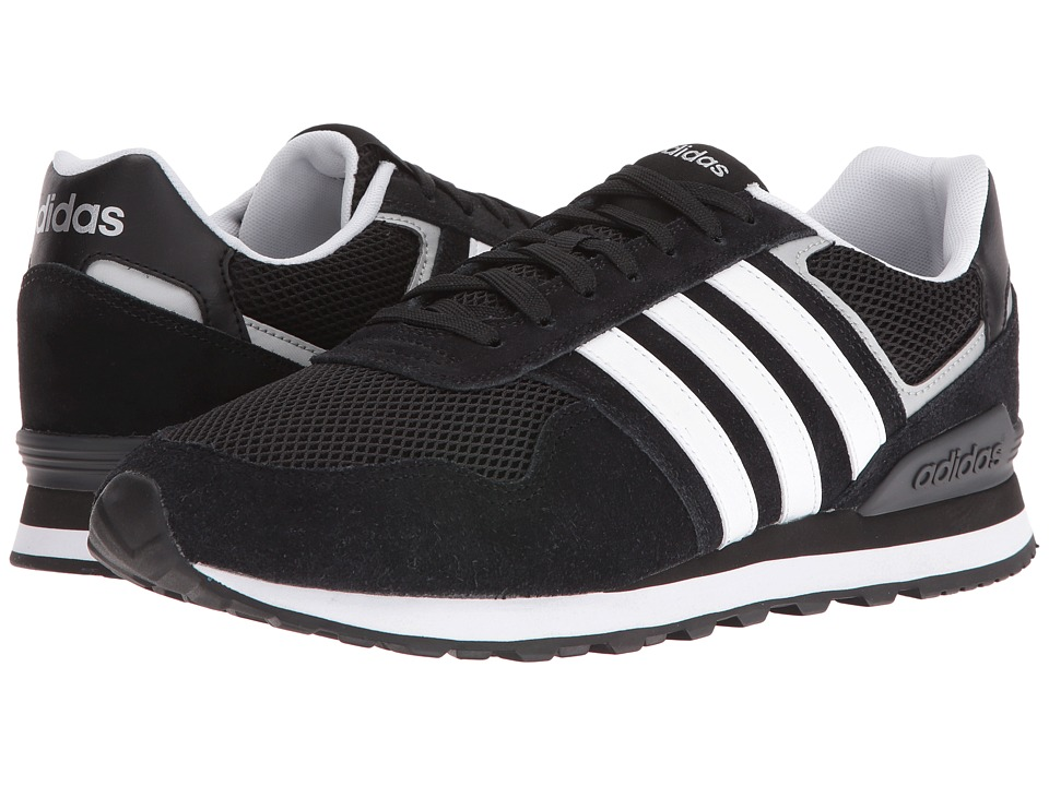 adidas - 10K (Black/White/Silver) Men's Running Shoes