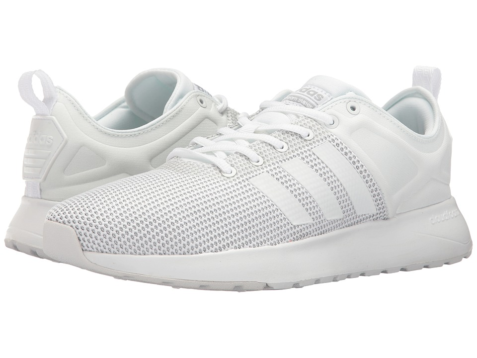 adidas - Cloudfoam Super Racer (White/White/Clear Onix) Men's Running Shoes