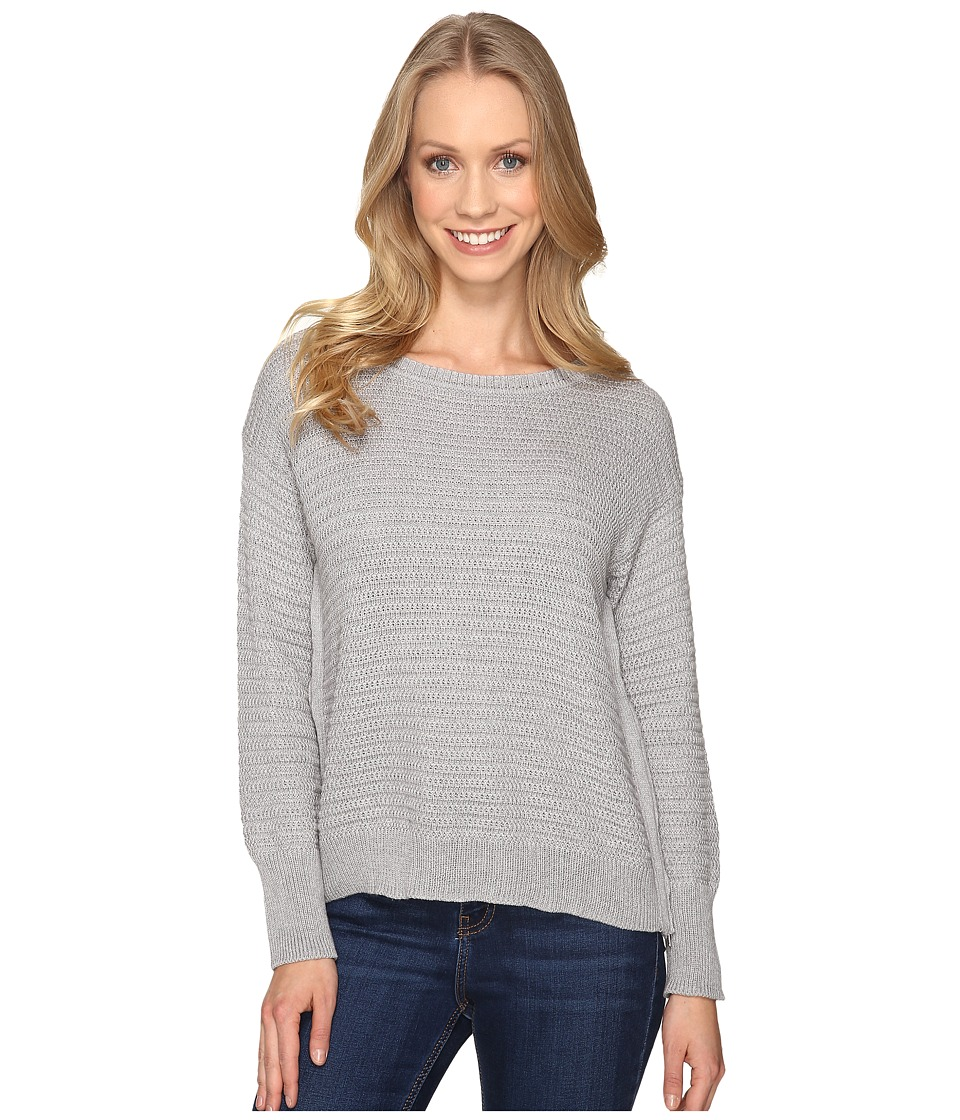 Mod-o-doc - Fully Fashion Sweater Side Zip Sweater (Heather Grey) Women's Sweater