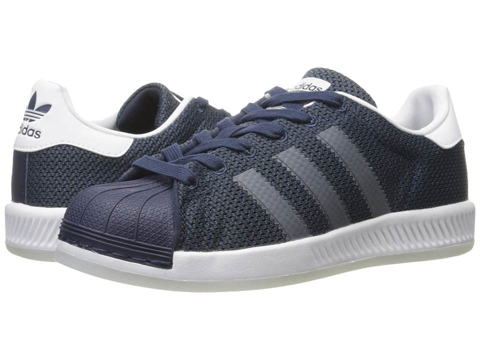 adidas Originals Kids - Superstar Bounce (Big Kid) (Collegiate Navy/Collegiate Navy/White) Kids Shoes
