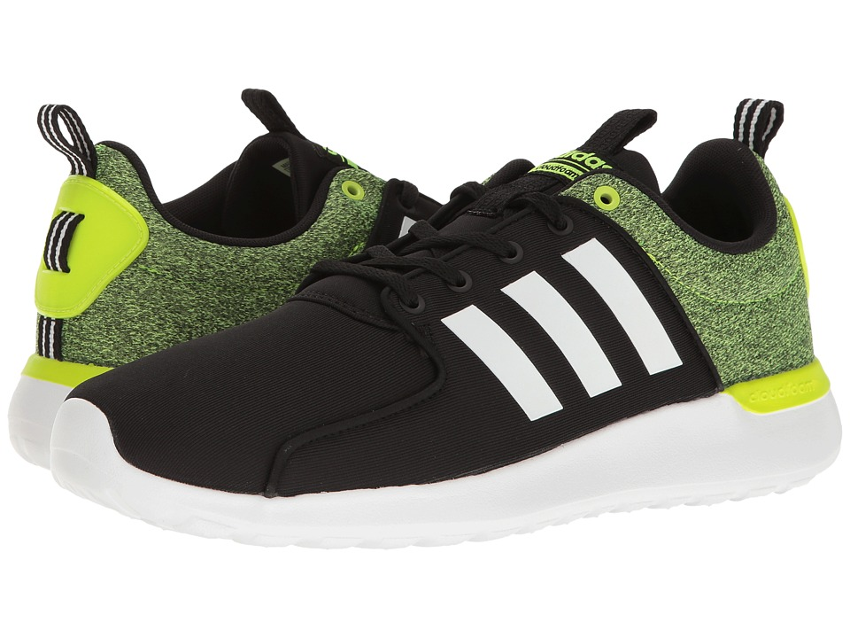 adidas - Cloudfoam Lite Racer (Black/White/Solar Yellow) Men's Running Shoes