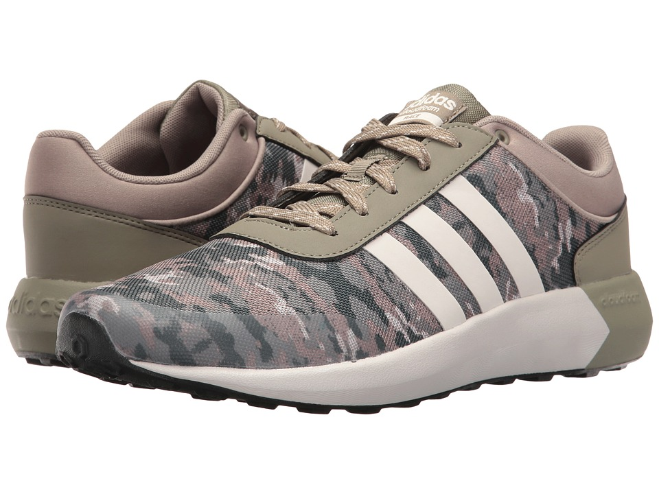adidas - Cloudfoam Race (Trace Cargo/Pearl Grey/Core Black Mesh) Men's Shoes