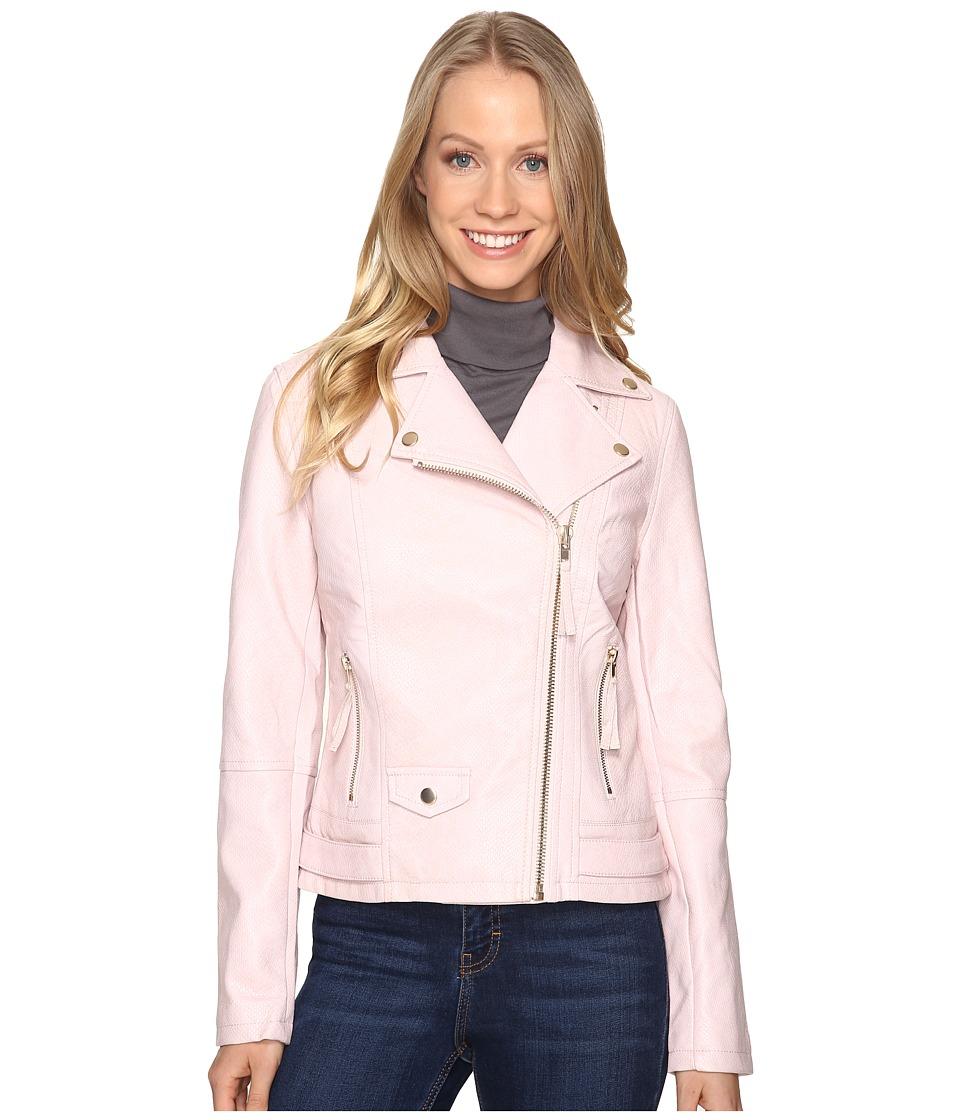 KUT from the Kloth - Brooke Faux Snake Coat (Blush) Women's Coat