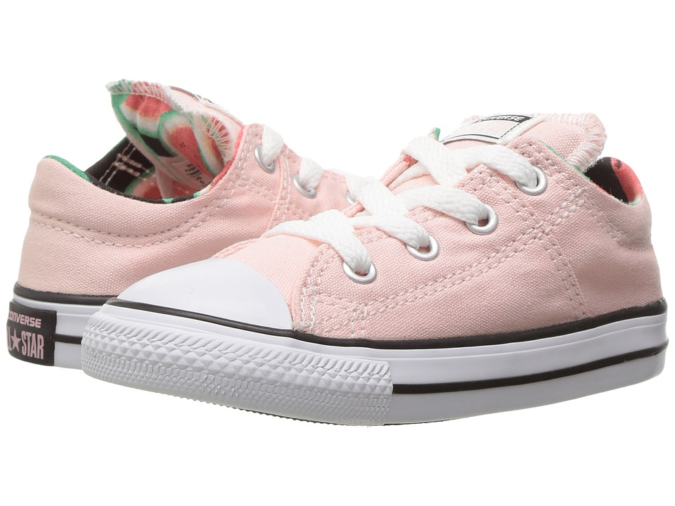 Converse Kids - Chuck Taylor All Star Madison Ox (Infant/Toddler) (Vapor Pink/White/Black) Girl's Shoes