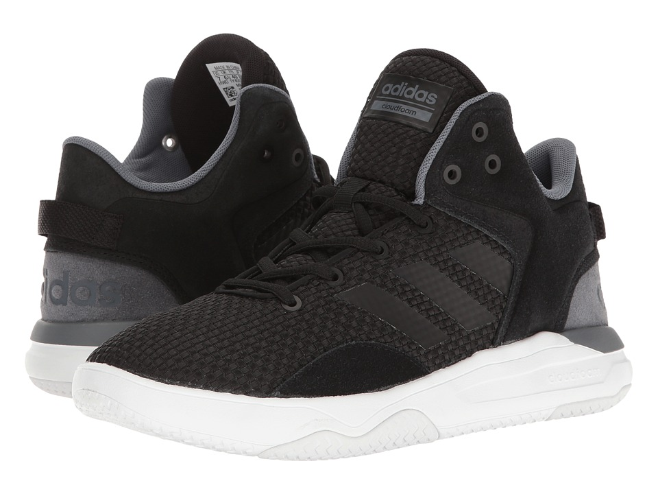 adidas - Cloudfoam Revival Mid (Black/Onix/White) Men's Basketball Shoes