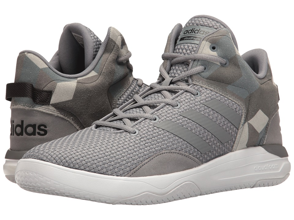 adidas - Cloudfoam Revival Mid (Grey/Grey/Black) Men's Basketball Shoes