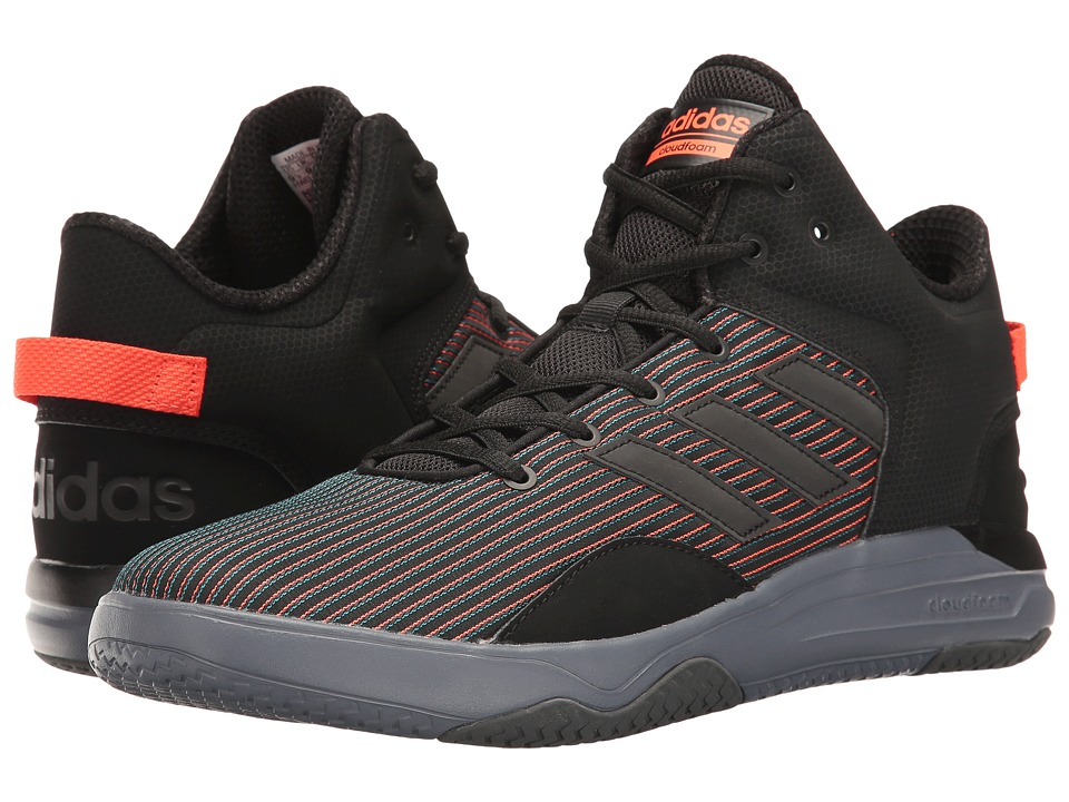 adidas - Cloudfoam Revival Mid (Core Black/Solar Red) Men's Basketball Shoes