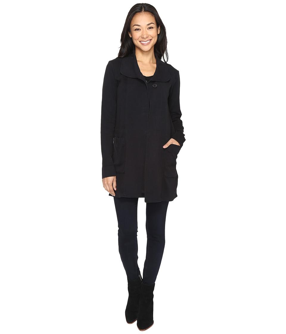 Mod-o-doc - Soft As Cashmere Knit Cinch Waist Jacket (Black) Women's Coat