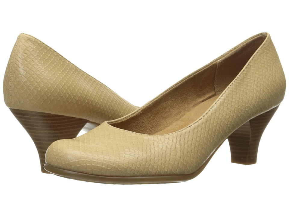 A2 by Aerosoles - Wise Guy (Light Tan Snake) Women's 1-2 inch heel Shoes