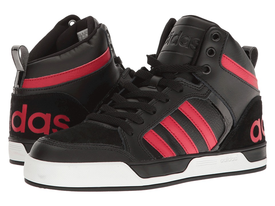 adidas - Raleigh 9TIS (Black/Bold Red/Black) Men's Basketball Shoes
