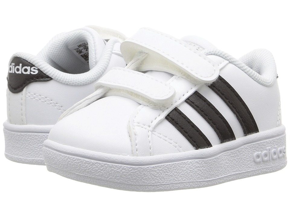 adidas Kids Baseline CMF (Infant/Toddler) (White/Black/White) Kids Shoes