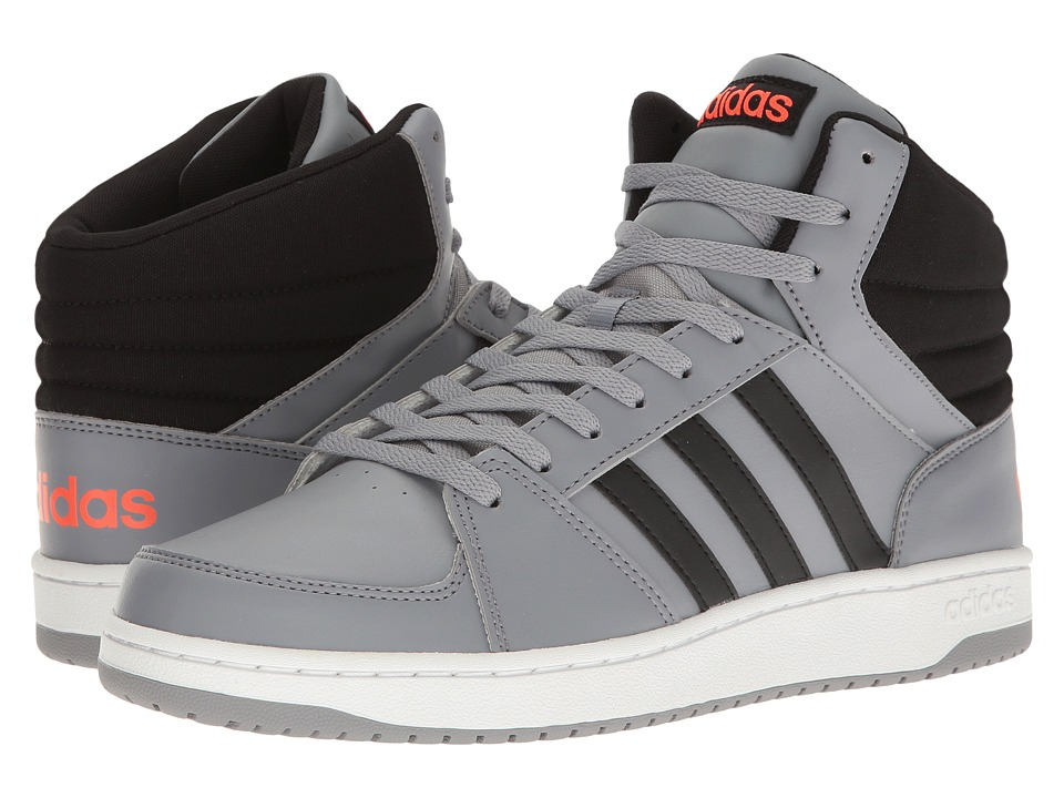 adidas - Hoops VS Mid (Grey/Black/Solar Red) Men's Shoes