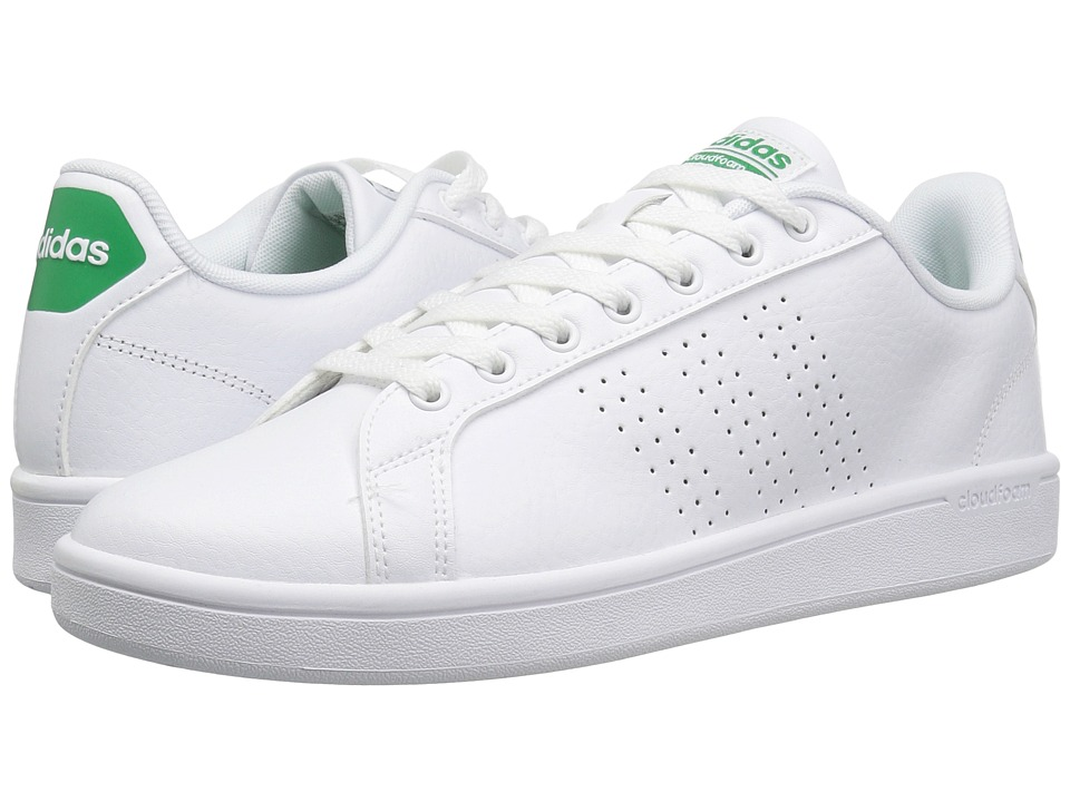 adidas - Cloudfoam Advantage Clean (White/Green) Men's Court Shoes