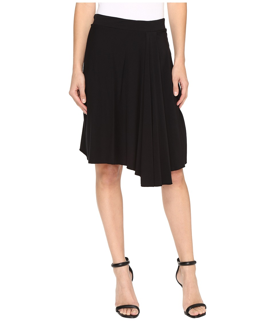Mod-o-doc Cotton Modal Spandex Jersey Short Hi-Low Hem Skirt (Black) Women