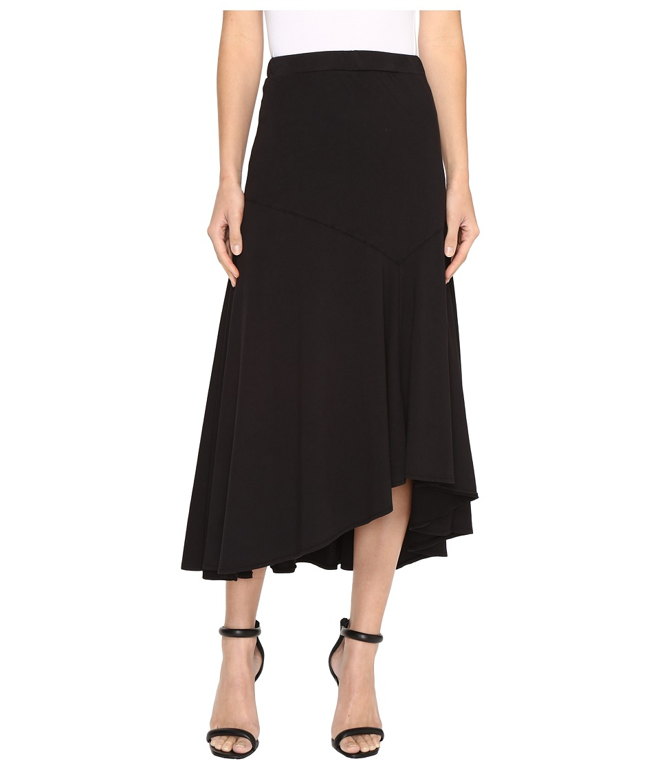 Mod-o-doc - Classic Jersey Hi-Low Asymmetrical Seamed Skirt (Black) Women's Skirt