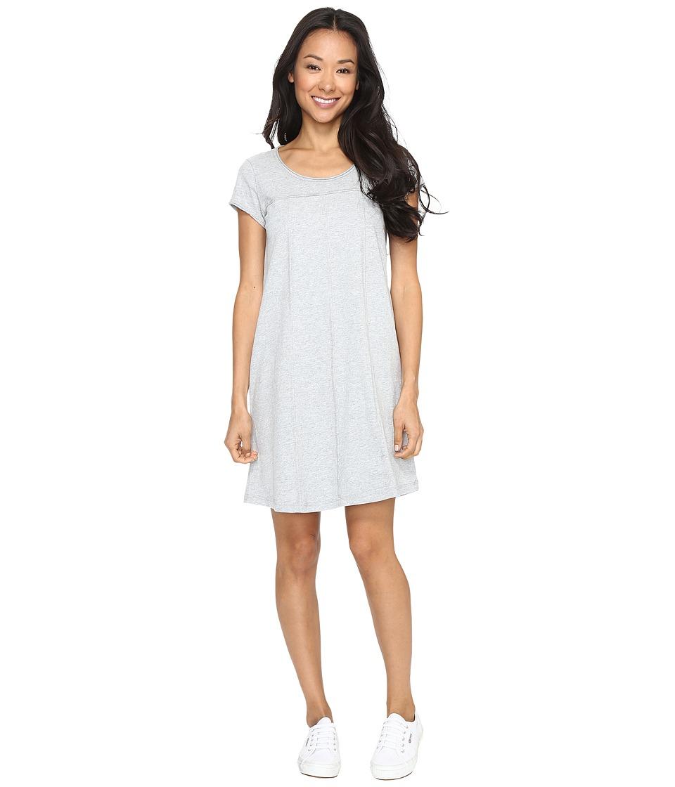 Mod-o-doc - Classic Jersey Seamed T-Shirt Dress (Heather Grey) Women's Dress