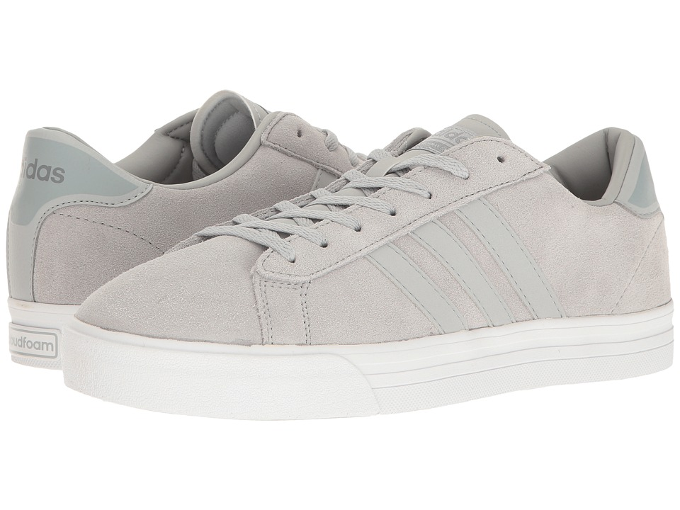 adidas - Cloudfoam Super Daily Leather (Clear Onix/Clear Onix/Footwear White) Men's Skate Shoes