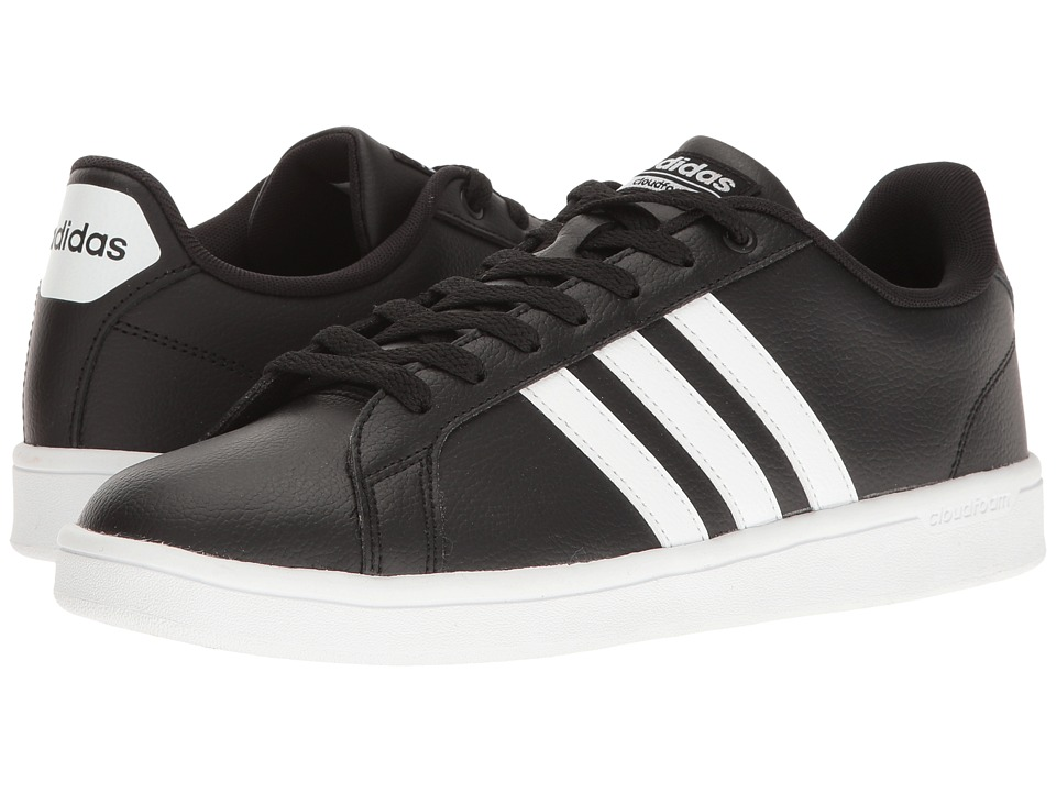 adidas - Cloudfoam Advantage Stripes (Black/White/Chalk White) Men's Court Shoes