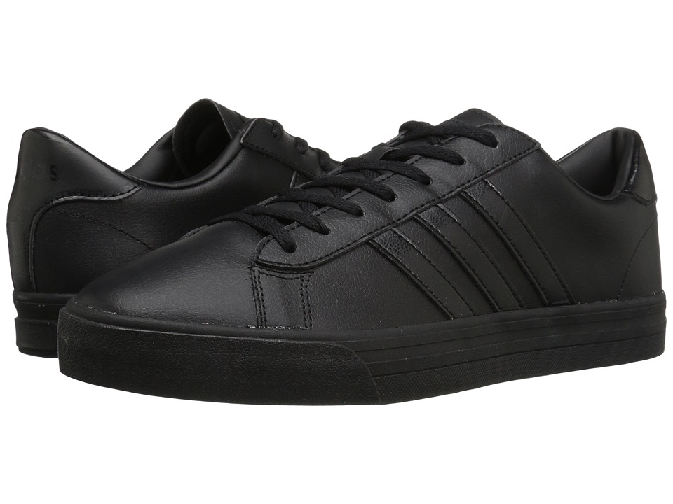 adidas - Cloudfoam Super Daily Leather (Black/Black) Men's Skate Shoes