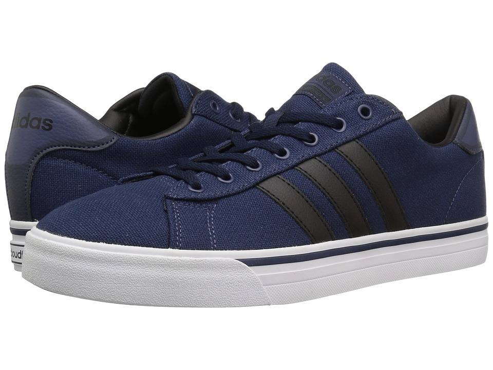 adidas - Cloudfoam Super Daily Textile (Navy/Black/White) Men's Skate Shoes
