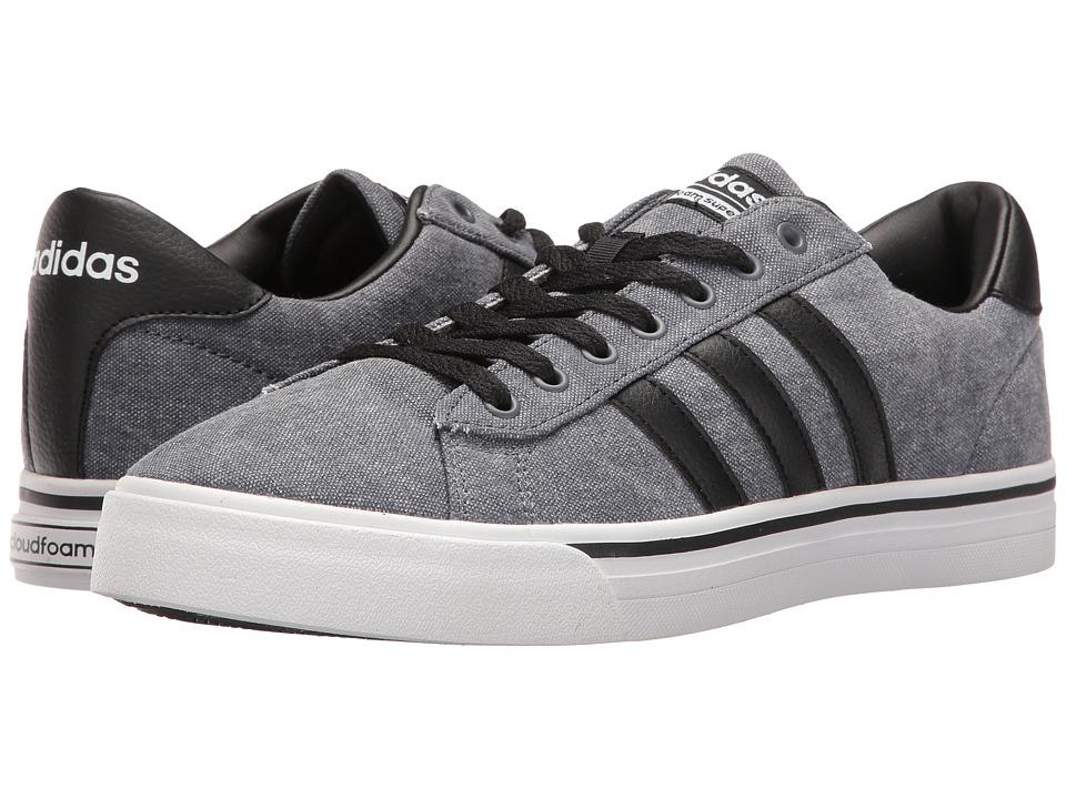 adidas - Cloudfoam Super Daily Textile (Black/White) Men's Skate Shoes