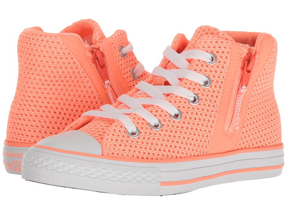 Converse Kids - Chuck Taylor All Star Sport Zip Hi (Little Kid/Big Kid) (Sunset Glow/Hyper Orange/White) Girl's Shoes